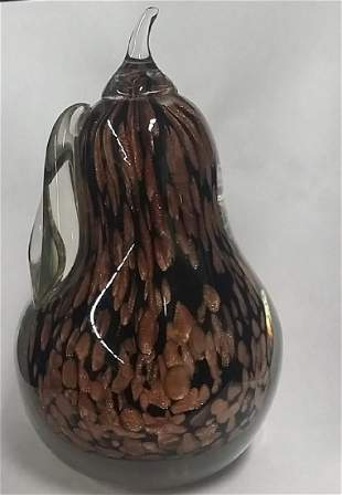 Heavy Murnao Style Glass Fruit Paperweight