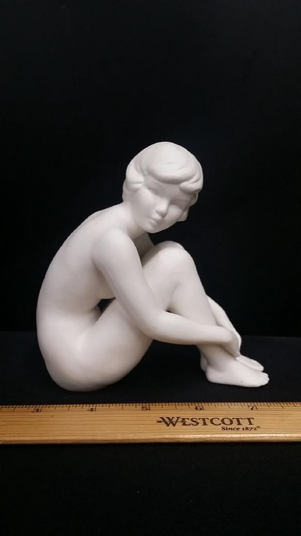 Vintage Goebel White Porcelain Nude Figure - 2