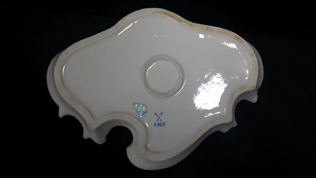 Vintage Meissen Style Porcelain Inkwell - 2