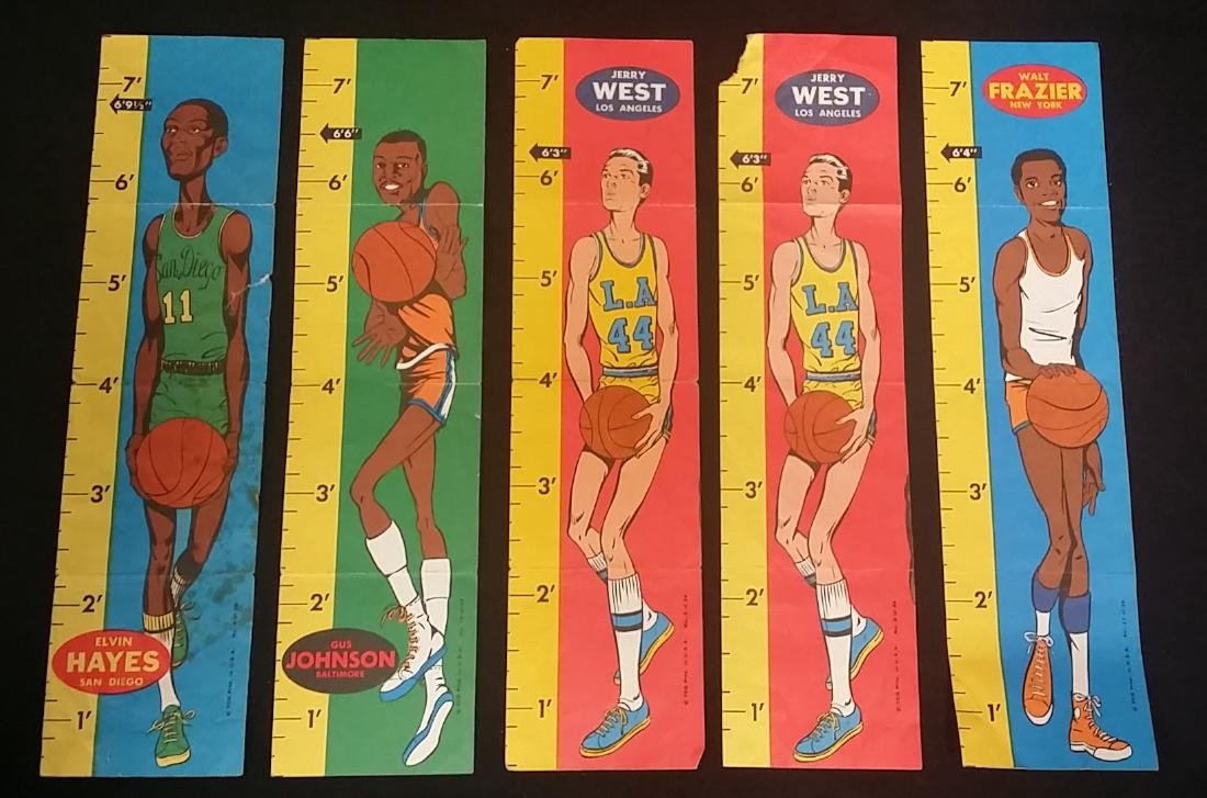 Vintage Set of Basketball Star Rulers