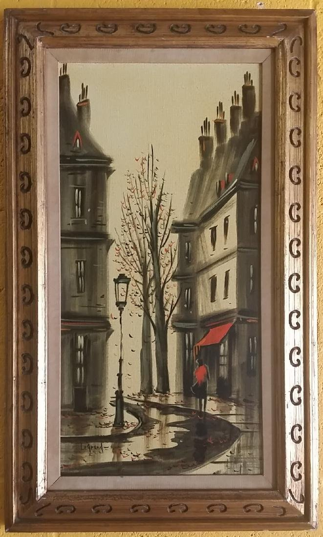 Vintage French Scene Oil Painting