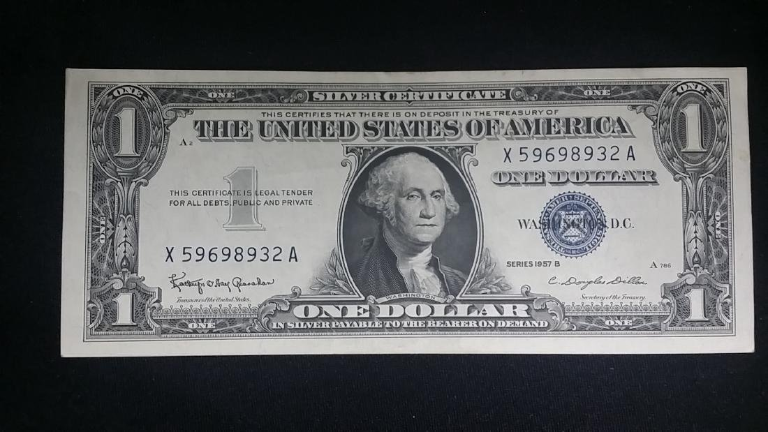 Beautiful Almost Uncirculated 1957 Silver Certifcate
