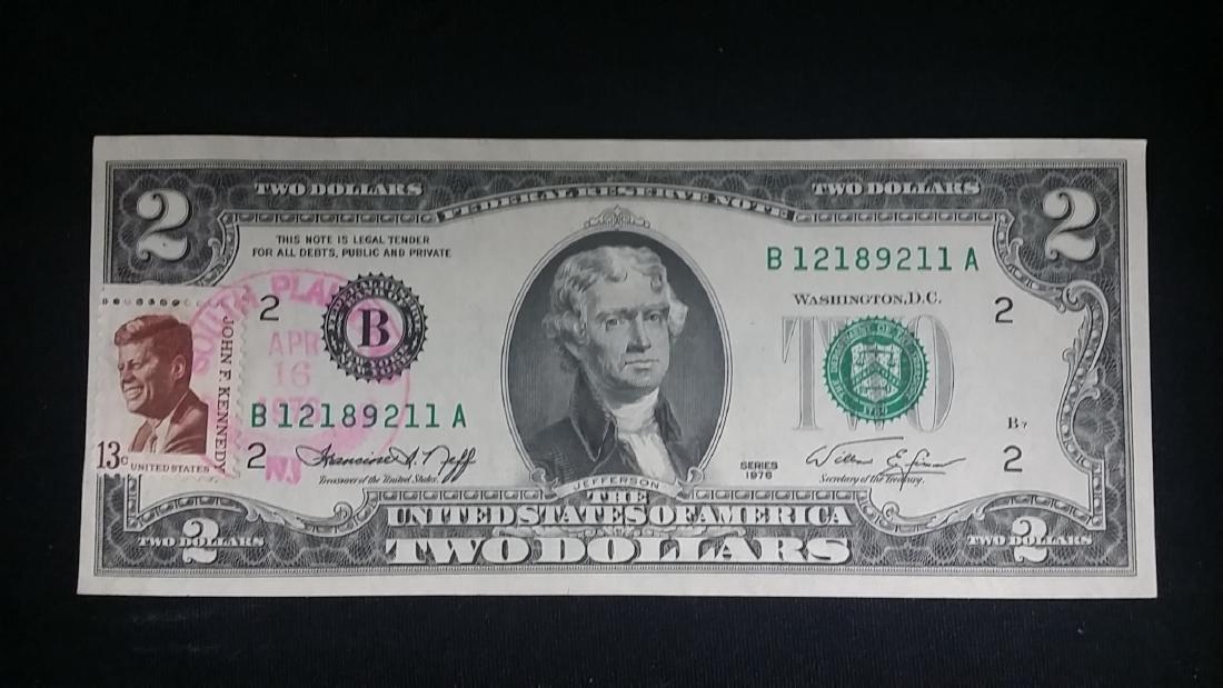 Bicentenial First Day Issue Stamp $2 Bill