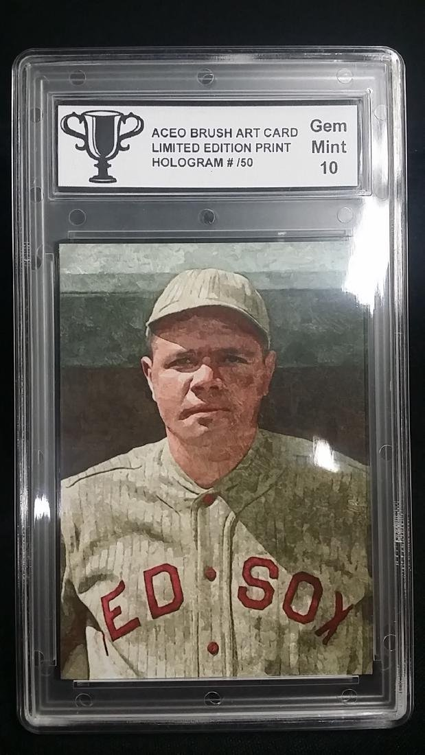ACEO Brush Art Limited Babe Ruth Card GEM MINT 10