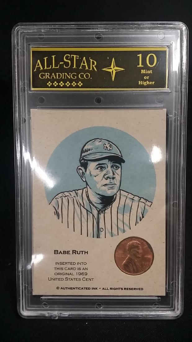 ALL Star Graded Babe Ruth Coin Car GEM MINT 10