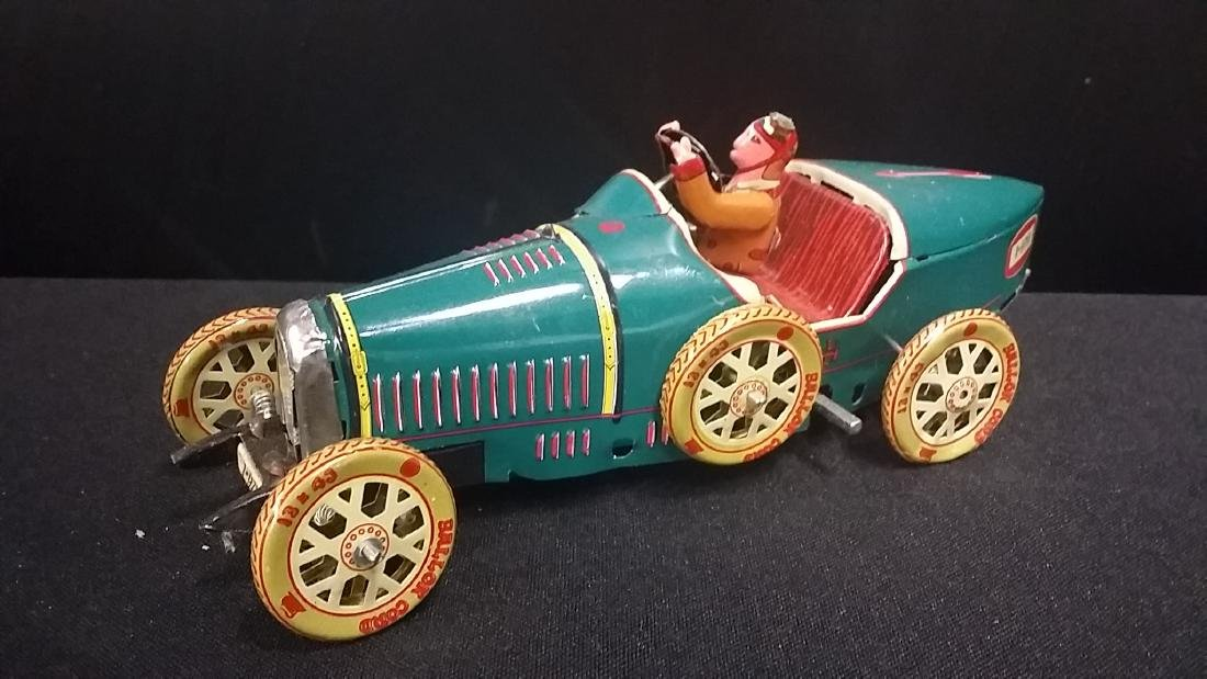 Vintage Style Tin Wind Up Race Car Toy