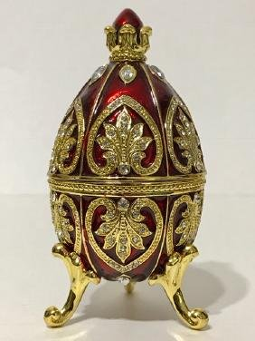 Genuine Stunning FABERGE Jeweled & Enameled EGG