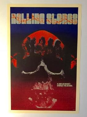 1969 The ROLLING STONES Music Concert Poster