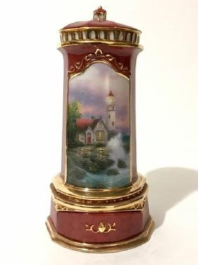 Signed THOMAS KINKADE Porcelain Seaside Music Box