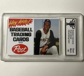 ROBERTO CLEMENTE Cereal Advertising Baseball Card