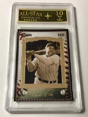 "Rare Signed BABE RUTH ""Guyana"" Baseball Card"