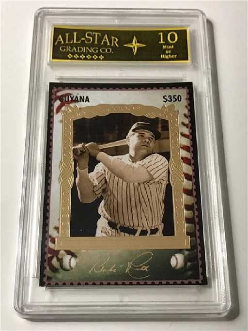 Rare Signed Babe Ruth Guyana Baseball Card On Liveauctioneers