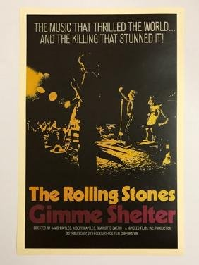 1970 ROLLING STONES Movie Lobby Card Poster