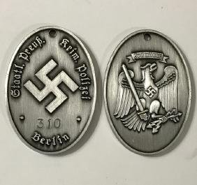 WW2 Nazi German Secret Police Gestapo Badge