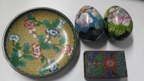 Lot of Assorted Antique & Vintage Chinese Cloisonne