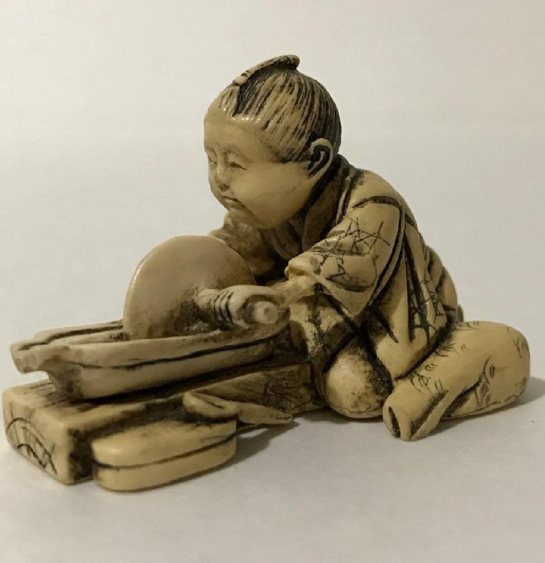 Pre-Ban Artist Signed Chinese Carved Netsuke