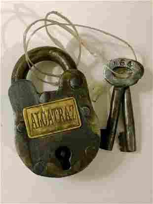 Old ALCATRAZ Prison Padlock w/Matching Keys