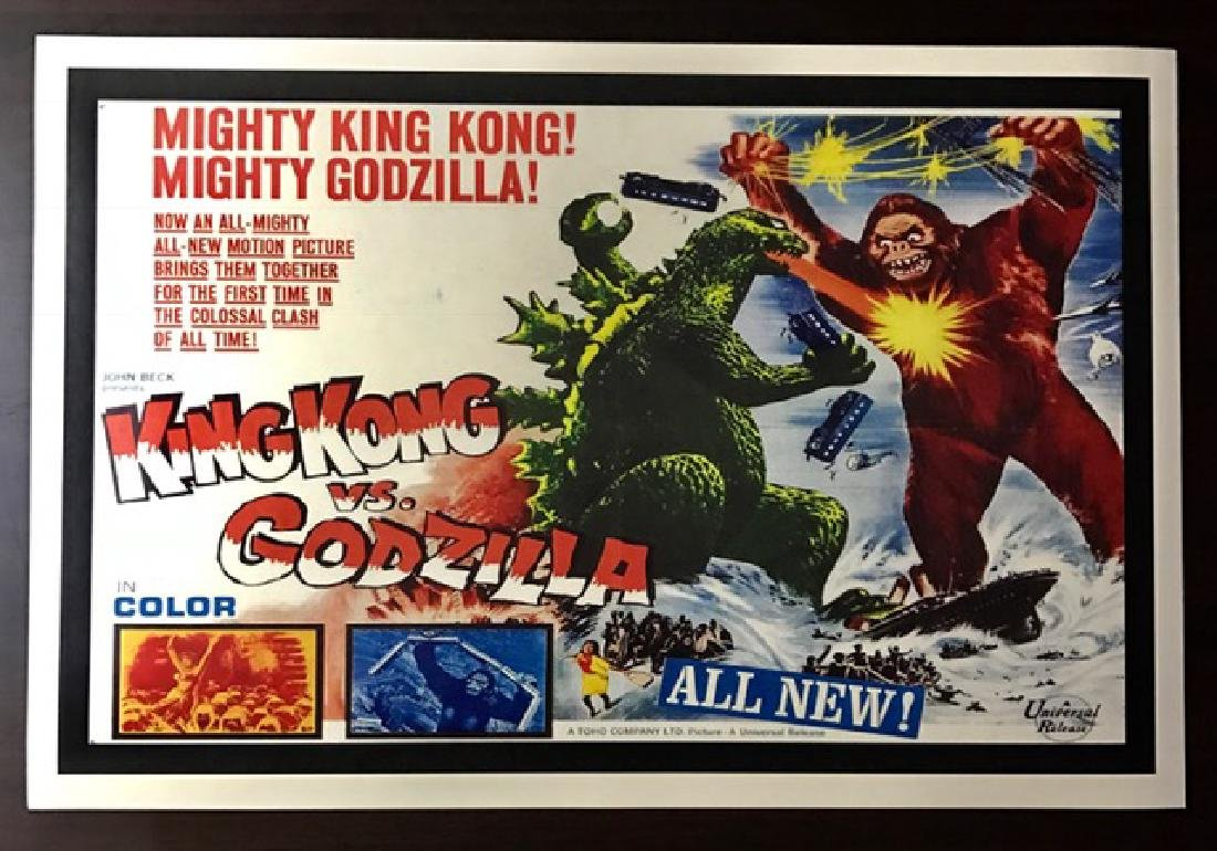 GODZILLA vs KING KONG Movie Lobby Card Poster