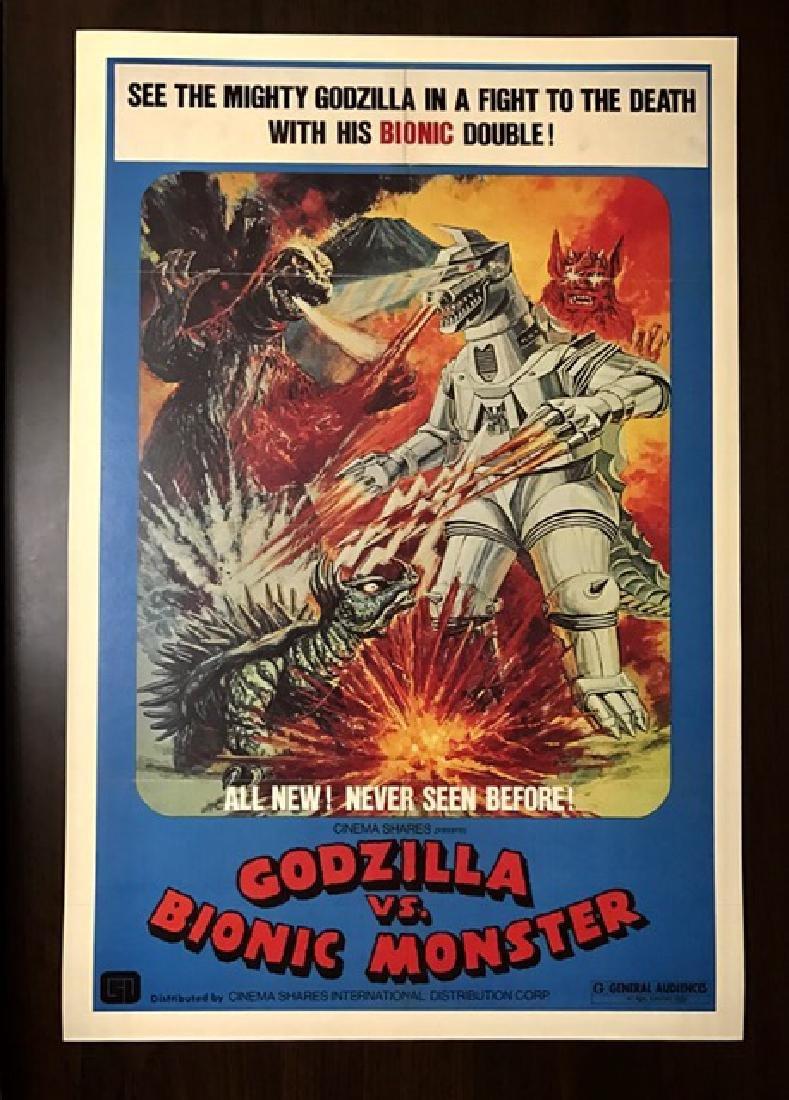 GODZILLA vs BIONIC MONSTER Movie Lobby Card Poster