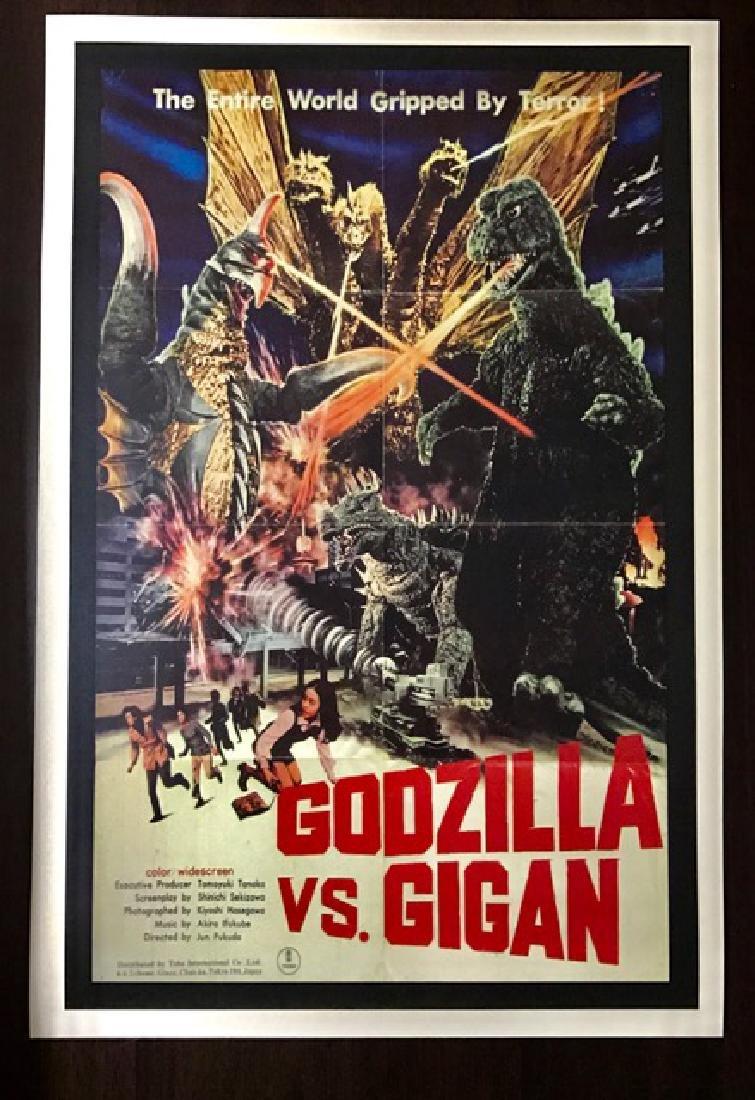 GODZILLA vs GIGAN Movie Theatre Lobby Card Poster