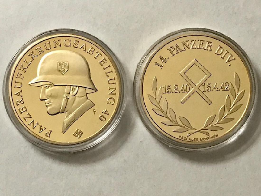 1oz WW2 Gold Clad German Panzer Division Medal
