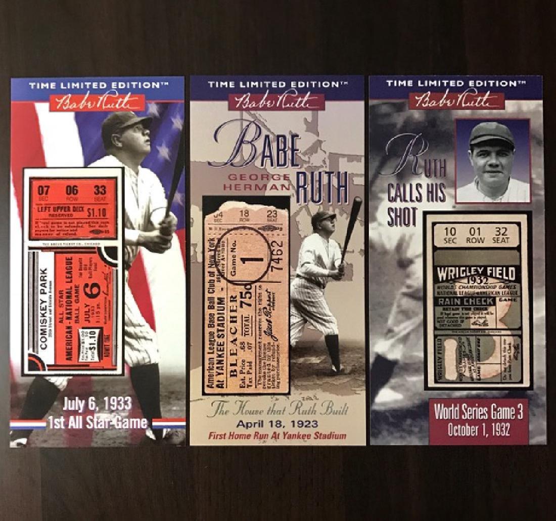 Lot of 3 BABE RUTH Milestone Baseball Game Tickets