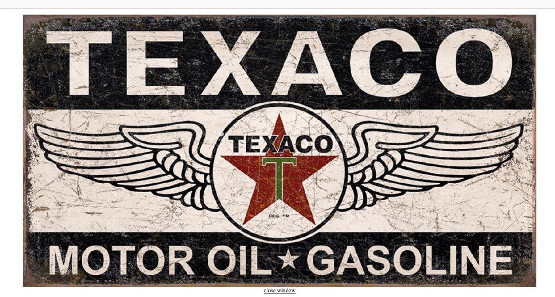 TEXACO Motor Oil Winged Logo Nostalgic Metal Sign