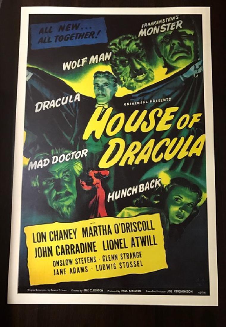 1945 House of Dracula Movie Lobby Card Poster