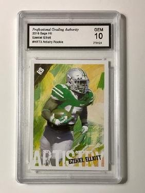 Mint 10 EZEKIEL ELLIOTT Rookie Football Card