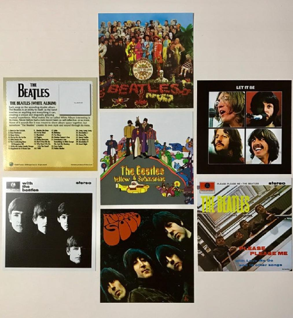 """Very Rare Lot of 7 """"The BEATLES"""" Album Covers"""