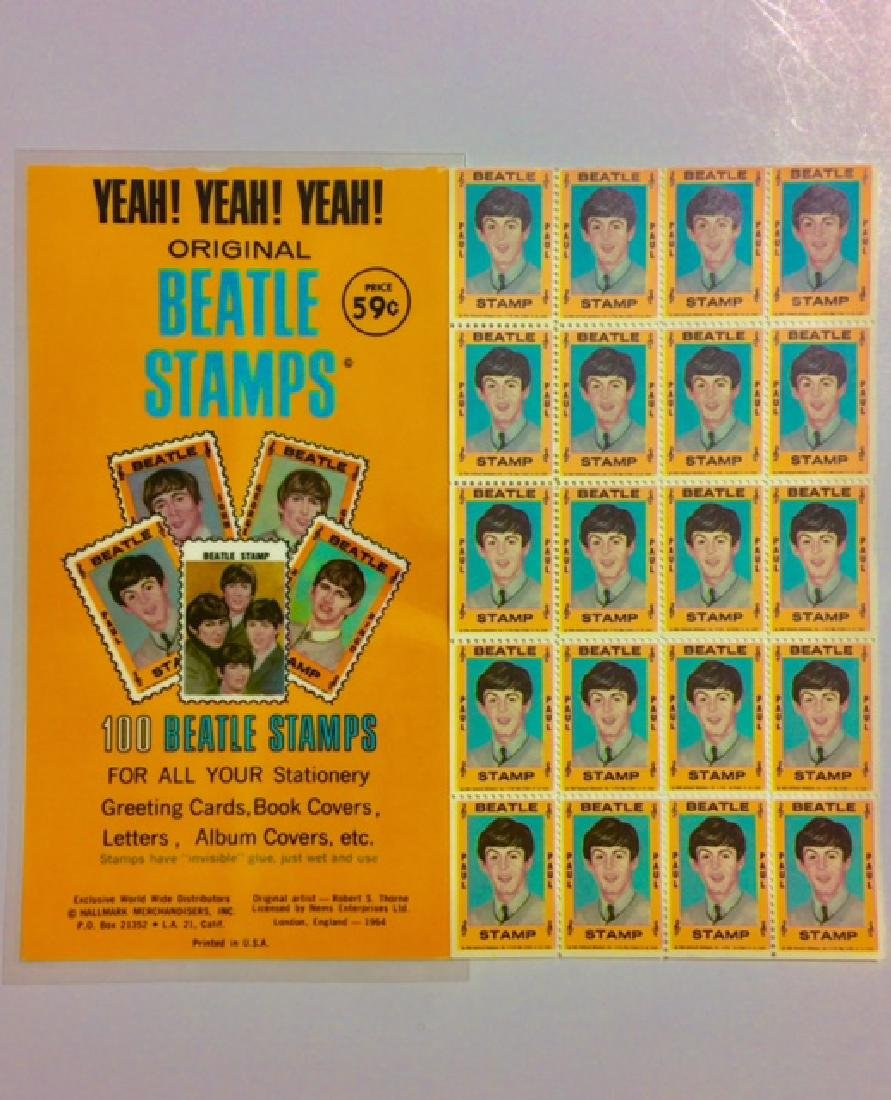Un-Cut 1964 The BEATLES *Paul McCartney* Stamps