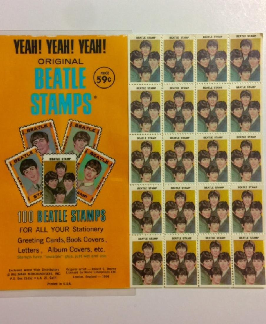"1964 The BEATLES ""Band"" Un-Cut Sheet Stamps"