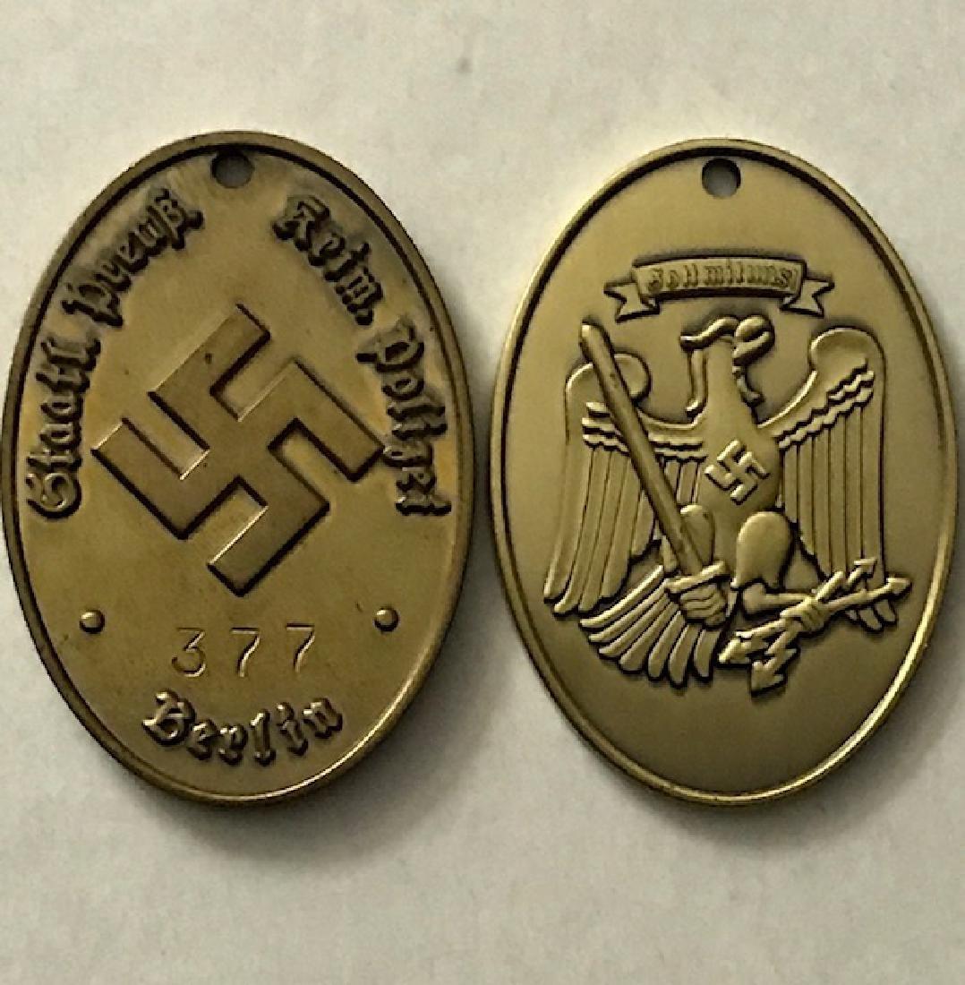 Nazi German Secret Criminal Police Gestapo Badge