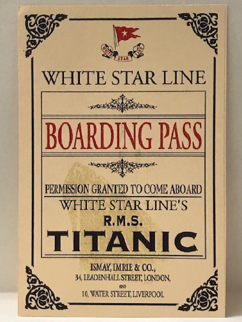 R.M.S. White Star Line TITANIC Boarding Pass