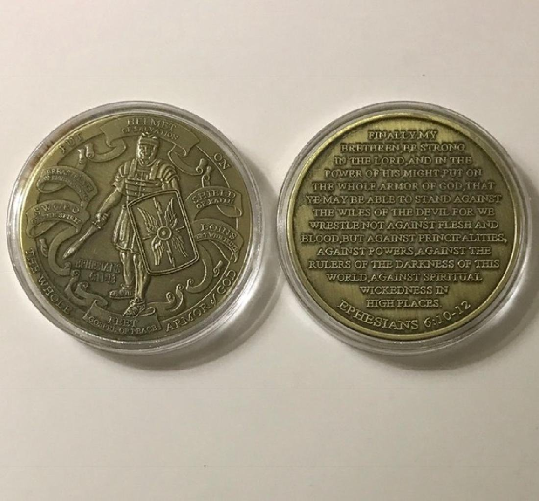 "Roman Bronze Coin ""Ephesians Helmet of Salvation"""