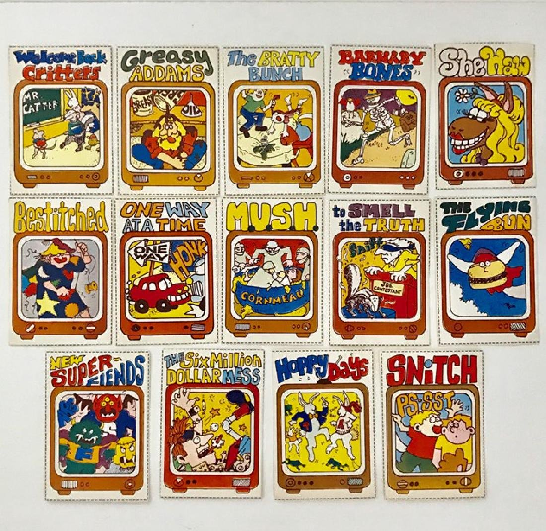 RARE Lot of 14 - 1978 Wacky TV Show Trading Cards