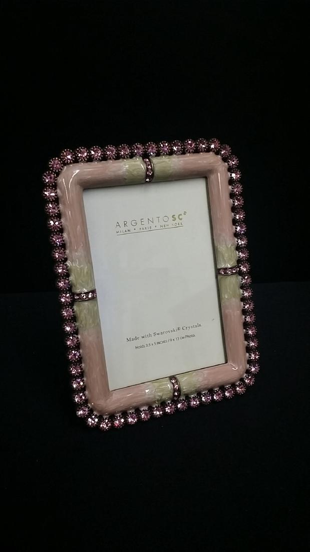 Sc swarovski crystal enamel picture frames argento sc swarovski crystal enamel picture frames jeuxipadfo Images
