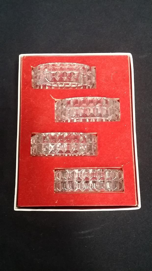 Vintage Crystal Napkin Rings In Box