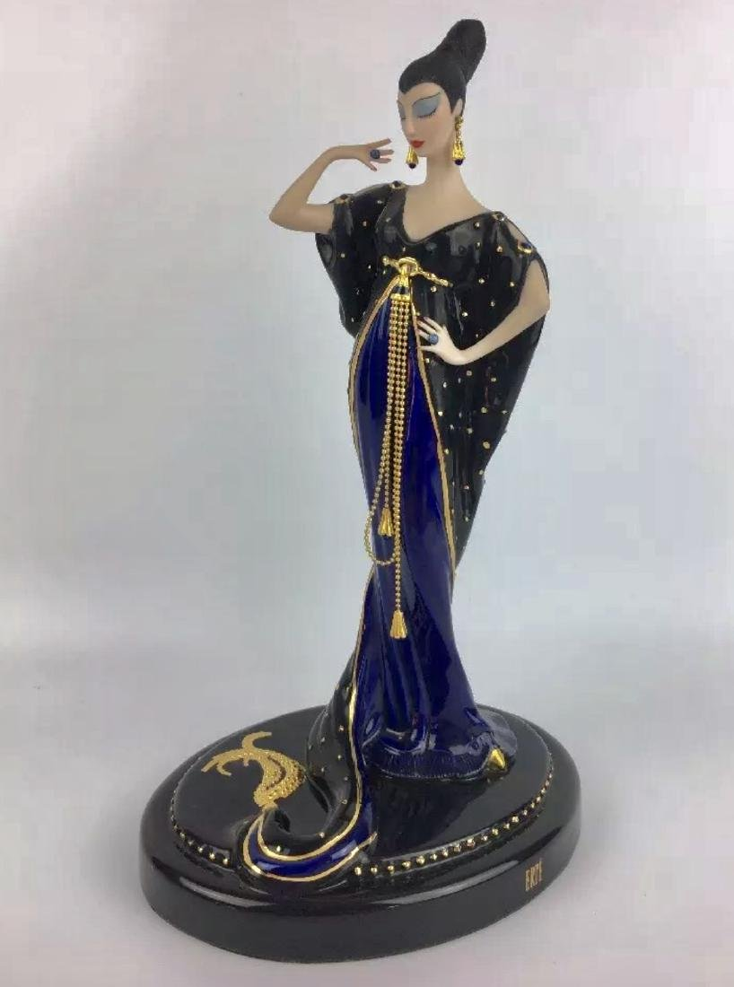 Stunning Signed ERTE Art Deco Porcelain Figurine