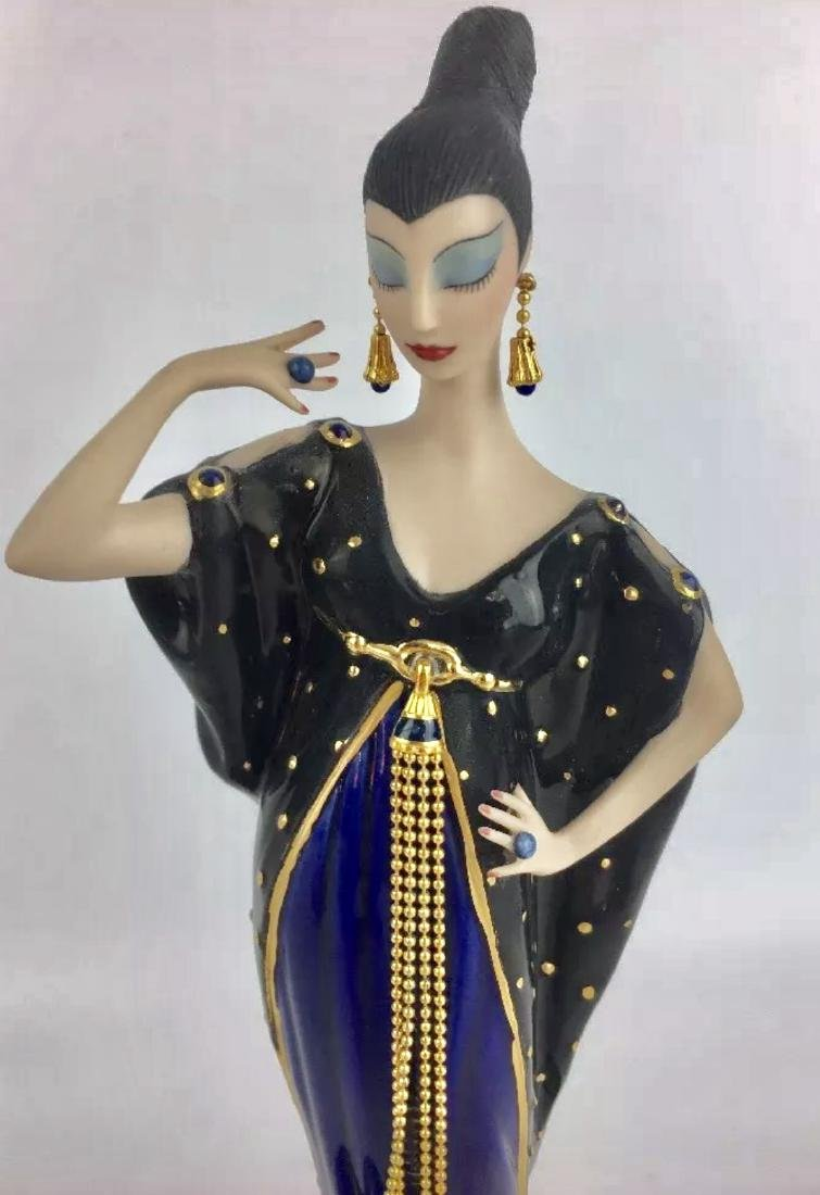 Stunning Signed ERTE Art Deco Porcelain Figurine - 2