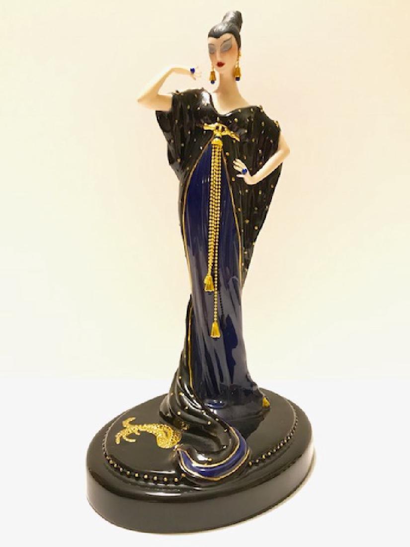 Stunning Signed ERTE Art Deco Porcelain Figurine - 3