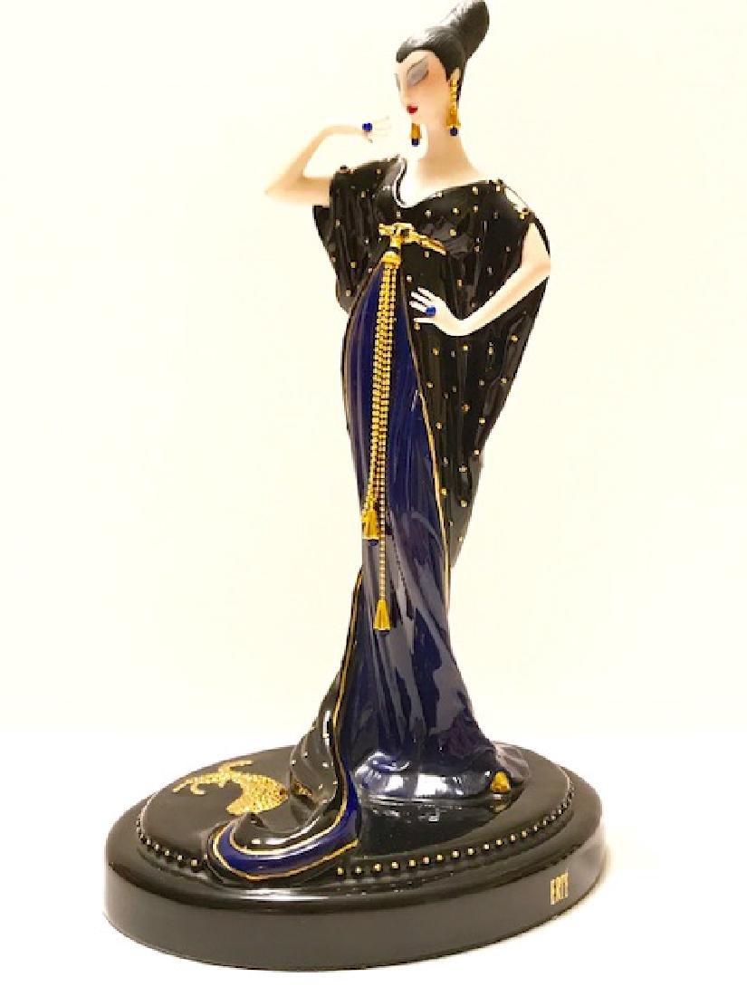 Stunning Signed ERTE Art Deco Porcelain Figurine - 4
