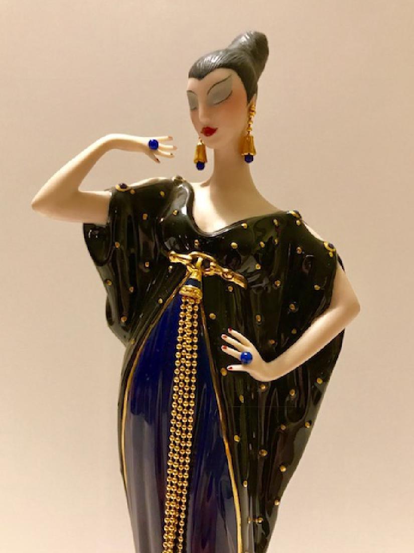 Stunning Signed ERTE Art Deco Porcelain Figurine - 6