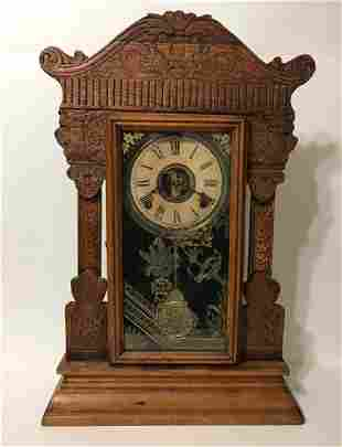 Antique Working WM. L. GILBERT Mantel Clock/READ
