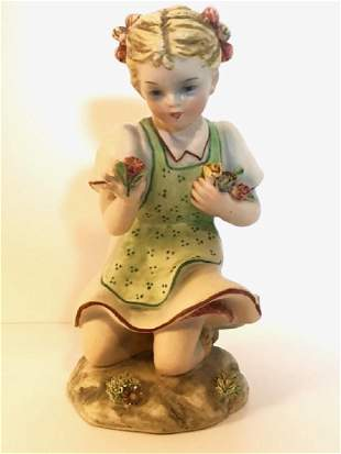 1930's Signed ZSZ - Nove, Italy Porcelain Figurine
