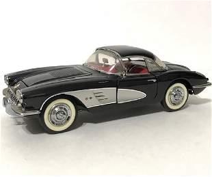 1958 Corvette FRANKLIN MINT Precision Die-Cast Car