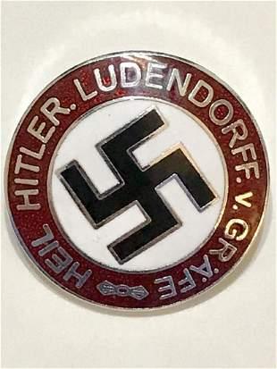German Nazi Adolf Hitler Enameled Uniform Pin