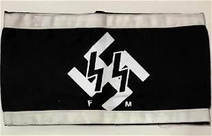 German Nazi Swastika Militants Uniform Armband