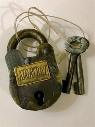 Antique ALCATRAZ Prison Padlock w/Matching Keys