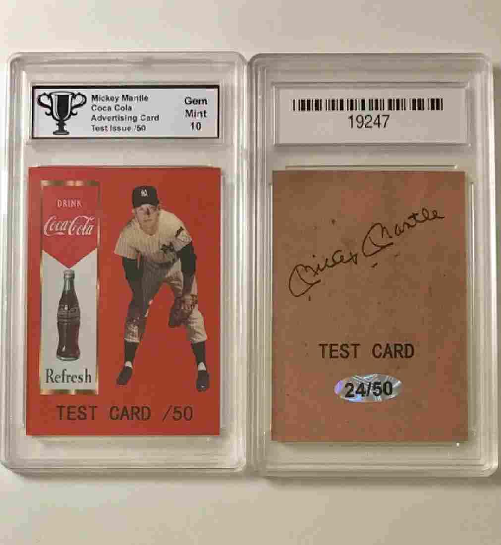Rare TEST Card MICKEY MANTLE Baseball Card